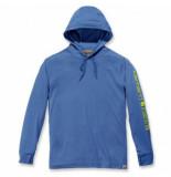Carhartt Trui men fishing hooded l/s blue heather-xl