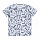 SUN68 T-shirt men full print slub bianco-l
