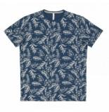 SUN68 T-shirt men full print slub avio scuro-l