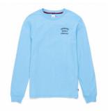 Herschel Shirt supply co. men's long sleeve tee stack logo alaskan blue peacoat-s