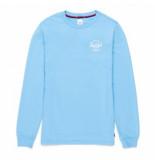 Herschel Shirt supply co. men's long sleeve tee classic logo alaskan blue white-m