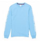 Herschel Shirt supply co. men's long sleeve tee sleeve print alaskan blue white-m