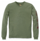 Carhartt Shirt men sleeve logo l/s olivine heather-xxl