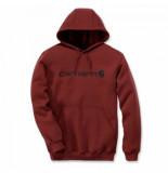 Carhartt Trui men signature logo sweatshirt dark red heather-xs