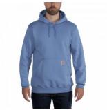 Carhartt Trui men sleeve logo hooded sweatshirt french blue-xs