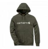 Carhartt Trui men delmont graphic hooded sweatshirt moss heather-s