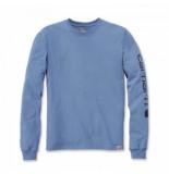 Carhartt Shirt men leeve logo l/s french blue-s