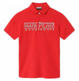Napapijri Polo youth eoli bright red-maat