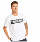 Timberland T-shirt men ss mink brook 3d brand tee white-l