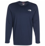 The North Face Shirt men l/s easy tee blue wing teal-s