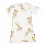 Snurk T-shirt dress kids pepe bird-maat