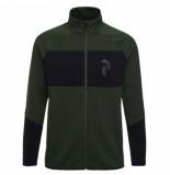 Peak Performance Vest men prem zip drift green-m