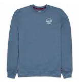 Herschel Trui supply co. men crewneck classic logo blue mirage white-s