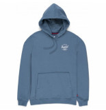 Herschel Trui supply co. men pullover hoodie classic logo blue mirage white-s