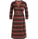 King Louie Wrap dress gusto red & night blue