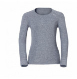 Odlo Ondershirt womens l/s crew neck warm grey melange-xs