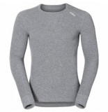 Odlo Ondershirt mens l/s crew neck warm grey melange-m