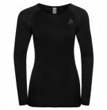 Odlo Ondershirt women crew neck l/s performance light black-l