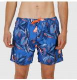 Brunotti Beachshort men tasker-flower blue wave-s