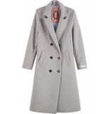 Maison Scotch Tailored double breasted coat light grey melange