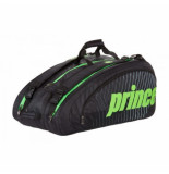 Prince Tennistas tour challenger bag black green