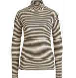 King Louie Rollneck top tweedy stripe black