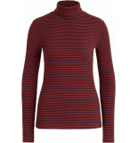 King Louie Rollneck top tweedy stripe blue