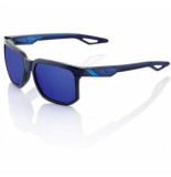 100 percent Zonnebril 100% centric polished translucent blue electric blue mirror lens