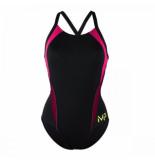 Michael Phelps Badpak women kalista black bright pink-maat 38