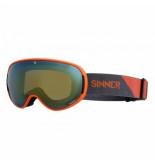 Sinner Skibril nauders matte orange orange mirror + orange sintec