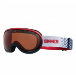 Sinner Skibril vorlage matte red matte dark blue orange sintec vent