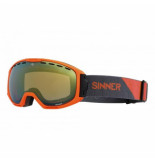 Sinner Skibril mohawk matte orange orange mirror vent + orange vent