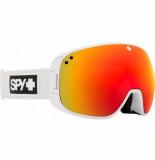 SPY Skibril bravo matte white / hd plus bronze / red spectra mirror