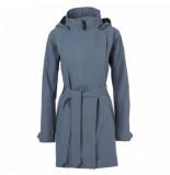 AGU Regenjas women urban outdoor trench coat dusty blue-xxl