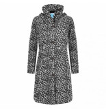 HappyRainyDays Regenjas coat bernice cheetah black off white-xxxl