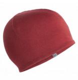 Icebreaker Muts pocket hat cabernet gritstone heather