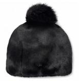 UGG Australia Muts women faux fur beanie pom black l/xl