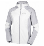 Columbia Jas sweet as softshell hoodie white cirrus grey-m