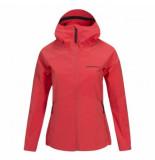 Peak Performance Jas women adventure hooded jacket pink flow-l