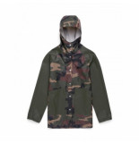 Herschel Jas supply co. women's rainwear classic woodland camo dark olive-xs