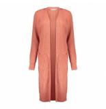 Geisha 04555-70 495 vest long with pockets l/s rhubarb