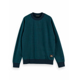 Scotch & Soda Crew neck melange raglan sweater 158469 0220