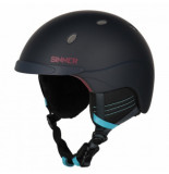 Sinner Skihelm titan midnight dark red-m