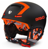 Briko Skihelm faito n082 black orange-56 -