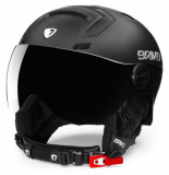 Briko Skihelm stromboli visor photo matt shiny black-59 -