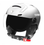 Briko Skihelm stromboli visor photo matt shiny white-59 -