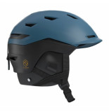 Salomon Skihelm sight moroccan blue black-56 -