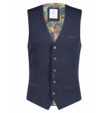 A Fish Named Fred Gilet 21.02.139 structure knit blue -