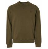 No Excess Sweater crewneck raglan moss