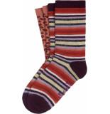 King Louie 2 pack socks multi stripe imerial purple